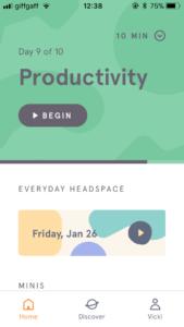 Headspace app screenshot