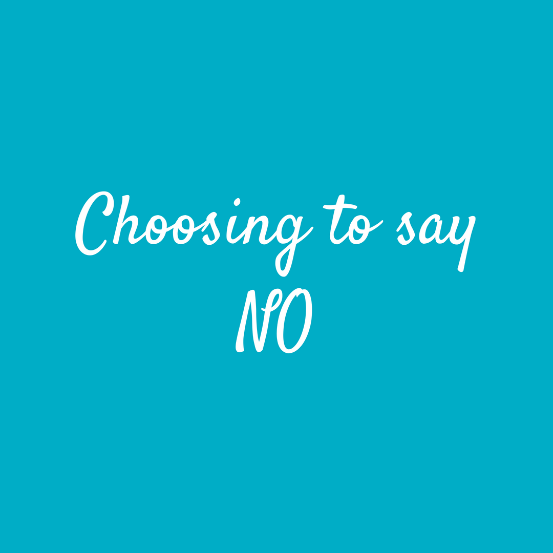 Choosing to say no, as a small business