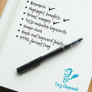 Tiny Chipmunk Product listing checklist