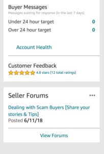 Screen Shot Amazon customer feedback