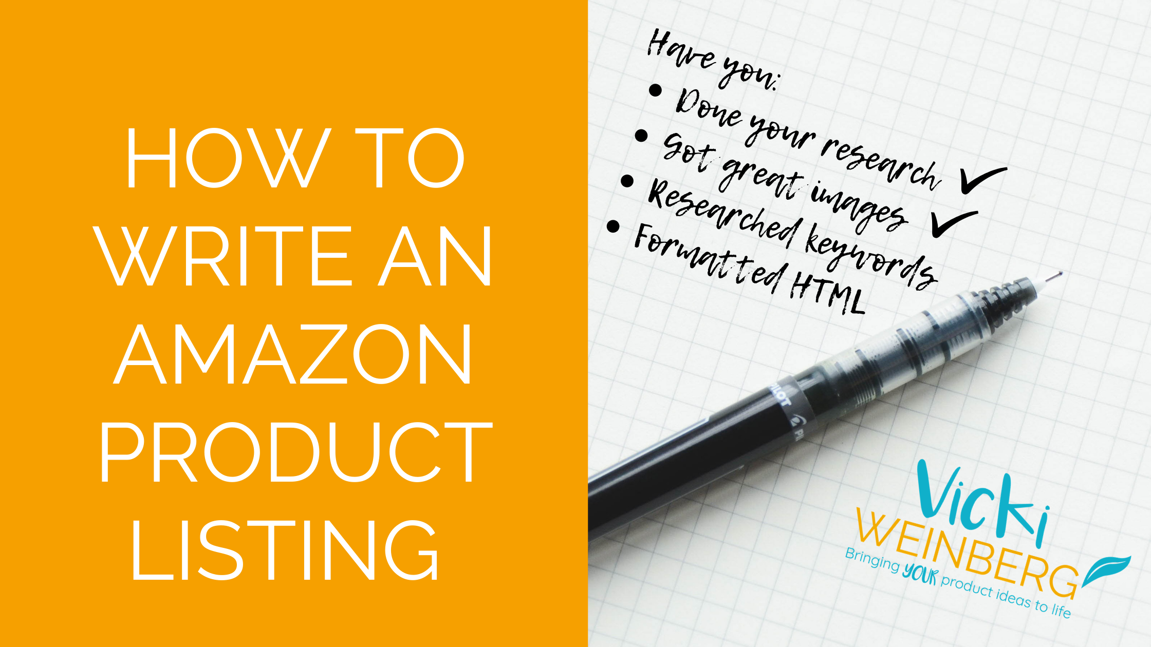 How to write an Amazon product listing