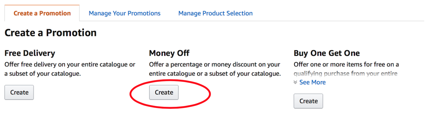 Setting up promotions in Amazon Seller Central