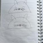 Tiny Chipmunk towel drawing