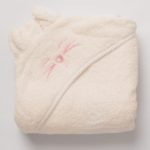 Tiny Chipmunk bamboo hooded towel - pink
