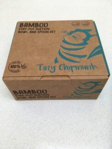 Tiny Chipmunk bamboo bowl box